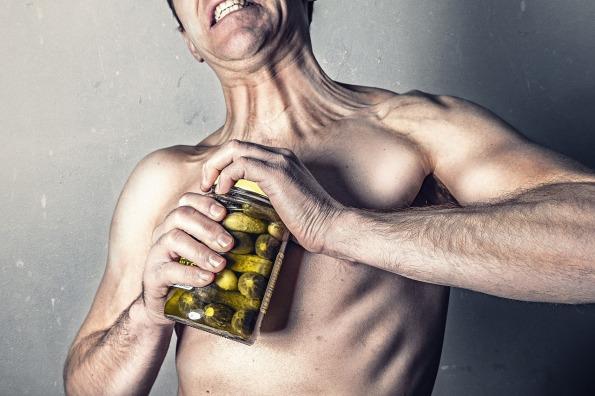 man with jar